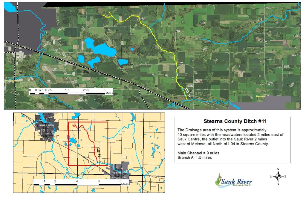 Sauk River Watershed District Stearns County Ditch 11 Map
