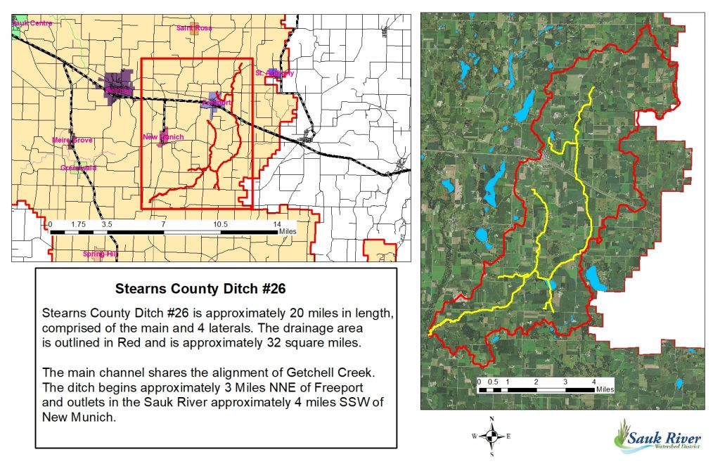 Sauk River Watershed District Stearns County Ditch 26 Map