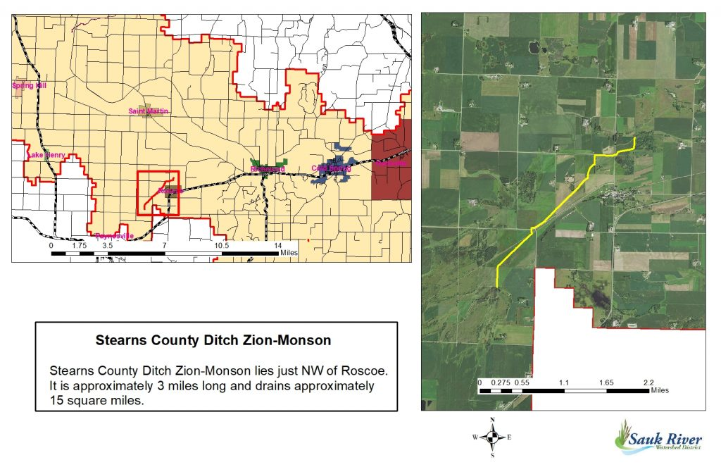 Sauk River Watershed District Stearns County Ditch Zion-Manson Map