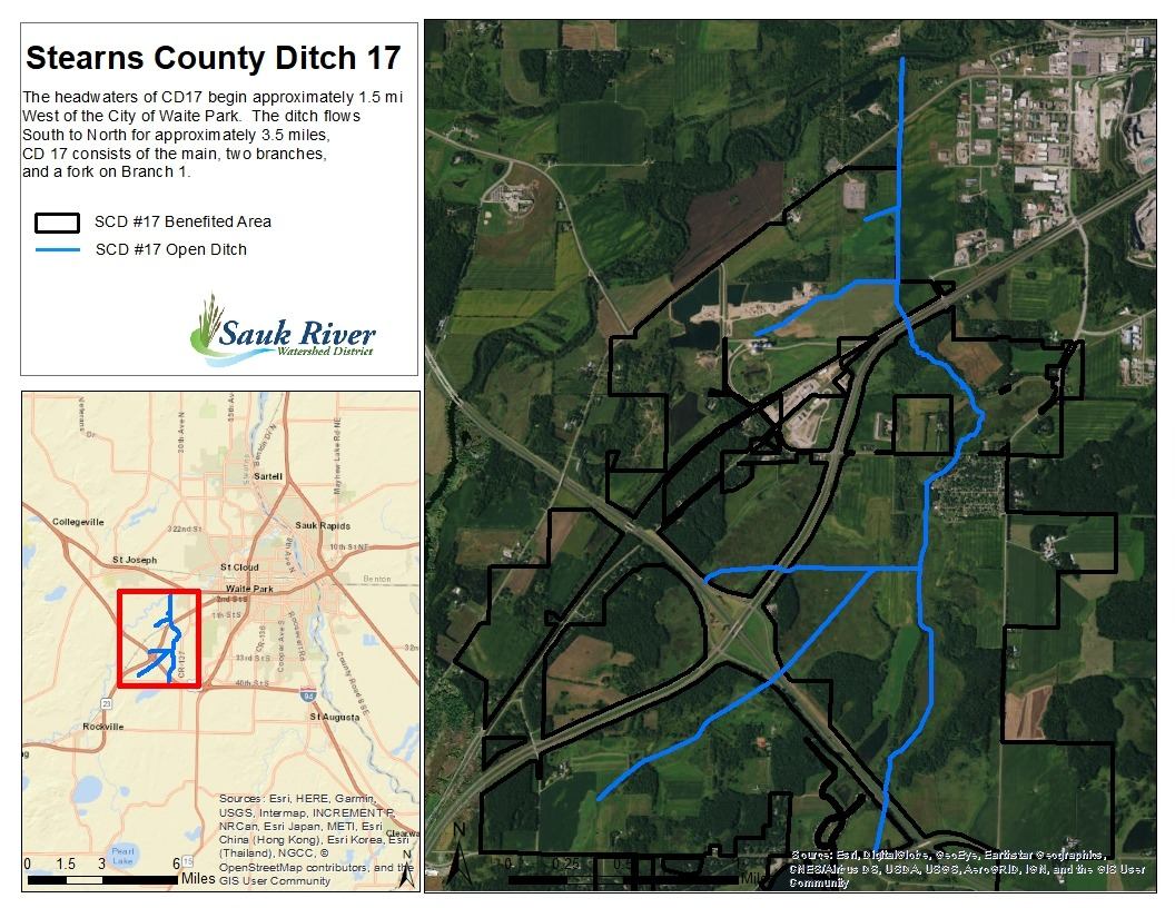 Sauk River Watershed District Stearns County Ditch 17 Map